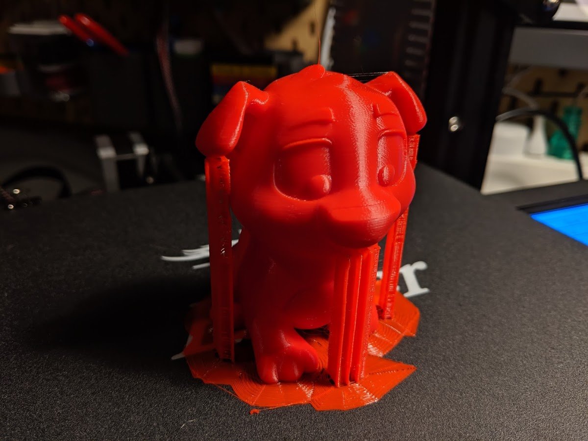 Print complete on build surface