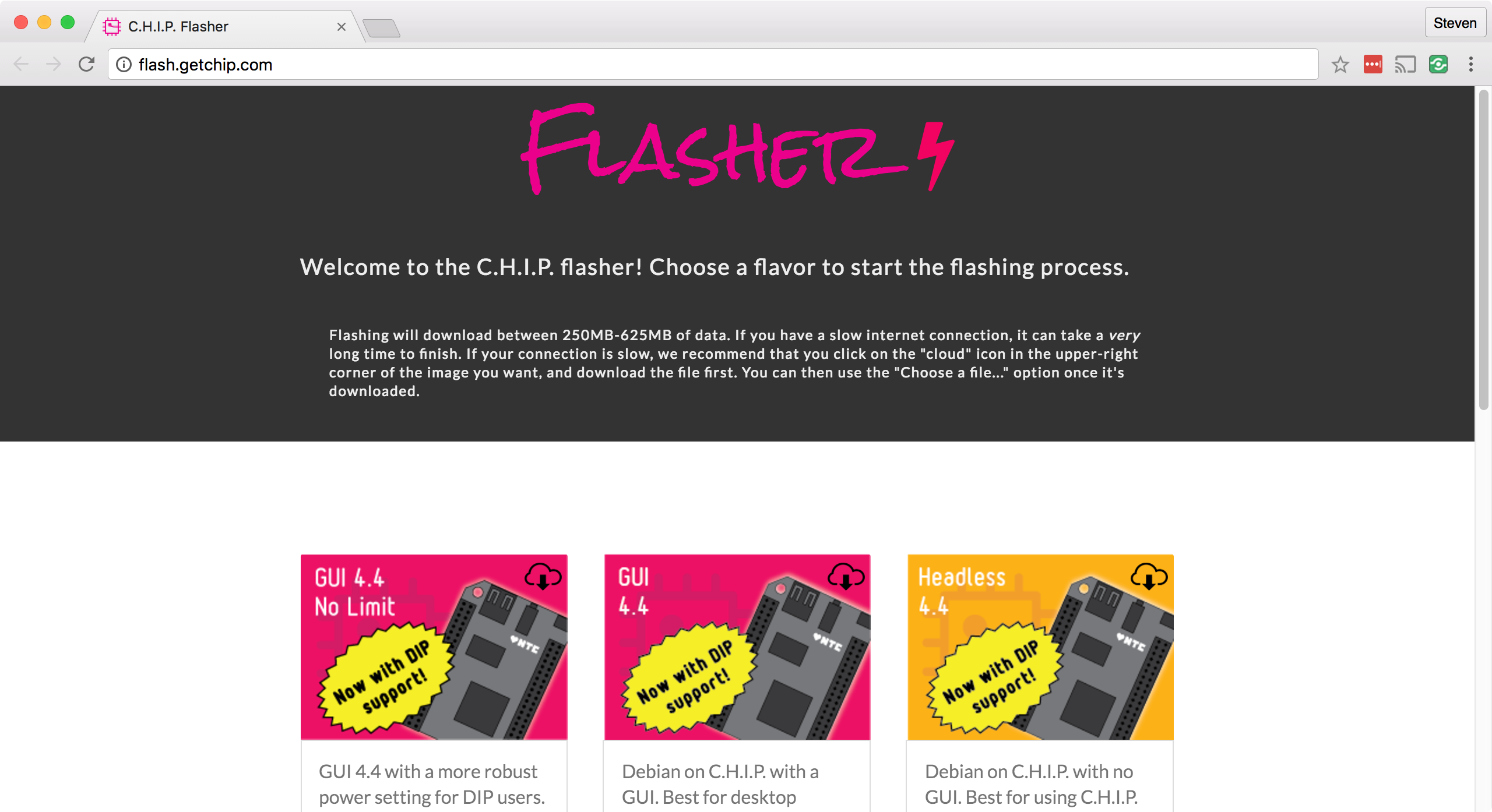 C.H.I.P. Flasher Page